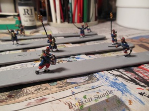15 mm Old Glory FPW command figures painted
