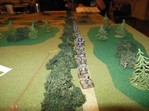 Austrian army starting position.