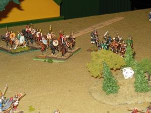 Saxon cavalry preparing to ride down the British on turn 3.