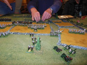 Japanese cavalry charge my infantry front on during turn 1