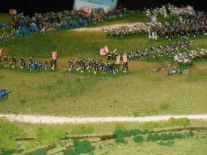 Russians right flank attacked from two sides from turn 1
