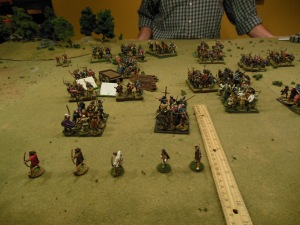 My left flank infantry and skirmishers breaking on turn 3