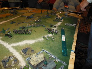 Russian right flank crumbles.