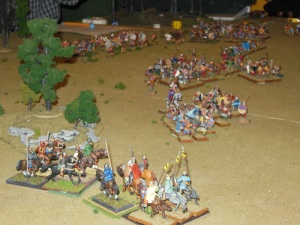 Cavalry clash on the flank
