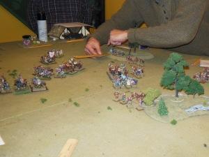 Kon regrouping rallied skirmishers.