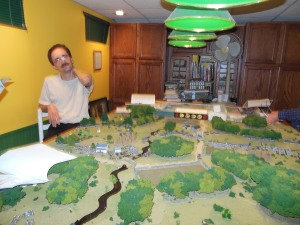 Ben looks over the battlefield as the Confederates get closer to his end of the board and victory.