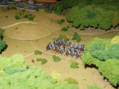 Union cavalry probe around flank.