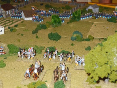 Ben's troops march on the center.