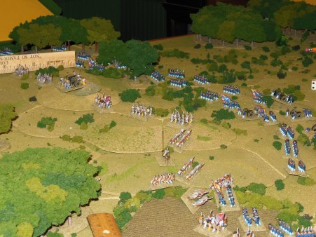 Union forces moving on the second objective.