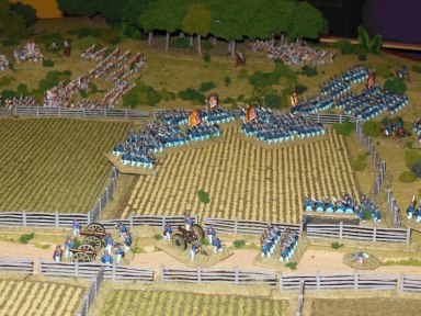 Ben's troops attack again across the field