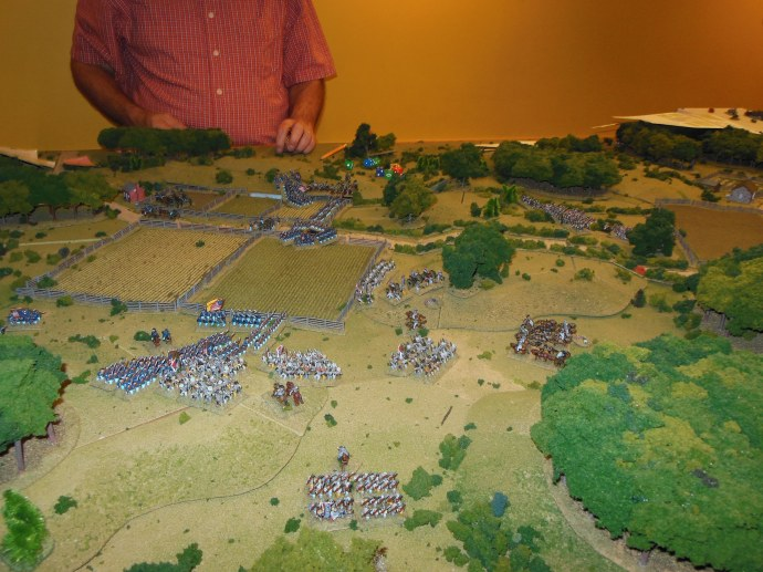 View of the battle field with 6 turns left