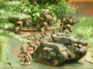 Lemann Russ tank and troops in the middle.