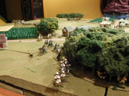 Japanese infantry moving through the woods