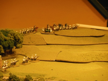 Russians fire from hillside