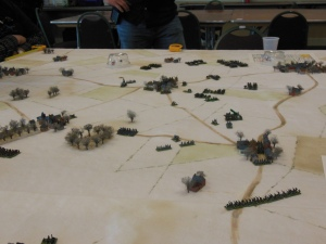 French troops sweep into the center and right flank