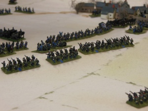 French troops meet the Bavarian reserves at the hill crest
