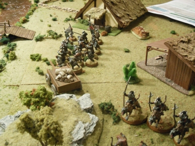 Rick's troops in the center and left approaching the river