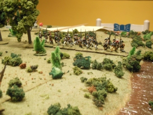 colonial right flank