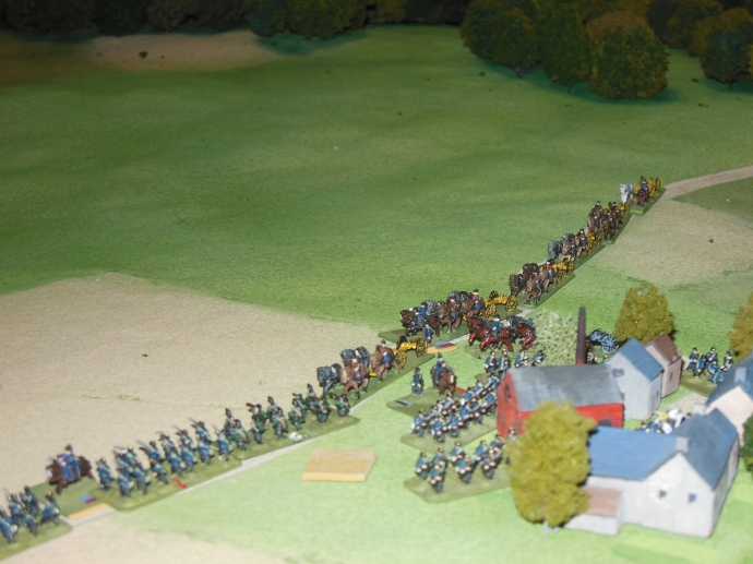 Prussians moving to block the French escape from Sedan