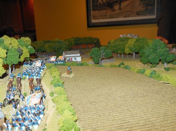 Close-up of union advance