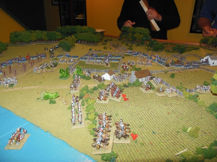 Confederate left flank feeling the union turn the flank