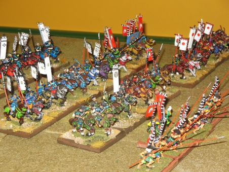 Nicely painted foot and cavalry