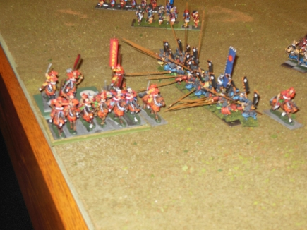 Rick's cavalry caught by the enemy in flank and destroyed