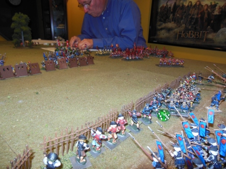 Del moved up some archers and they helped in the long range battle